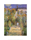 Garden at Vetreuil Affiche par Claude Monet