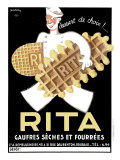 Belgium Rita Waffle Bisquit Reproduction procédé giclée