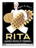 Belgium Rita Waffle Bisquit Giclée-tryk