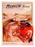Michelin, Tire Vanquished Rail Giclée-Druck