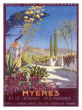 Hyeres, French Riviera Giclée-tryk af Georges Dorival