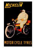 Michelin, Motorcycle Tire Giclée-Druck