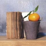 Orange and Book Pósters por Amelie Vuillon