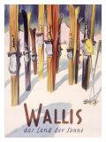 Wallis Winter, Snow and Ski Giclee Print