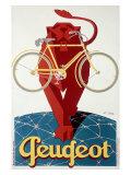 Peugeot Lion Bicycle Giclée-Druck