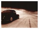1940 Coupe Salt Flat Racer Giclée-tryk af David Perry