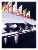 Panhard - Autorennen in Le Mans Giclée-Druck