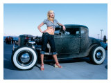 Pin-Up Girl: Deuce Coupe Rock a Billy Giclée-tryk af David Perry
