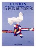 Labor Union Dove Giclée-tryk af Paul Colin