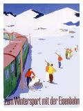 Eisenbahn Winter Sports Reproduction procédé giclée
