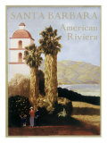 Santa Barbara American Riviera Giclée-tryk