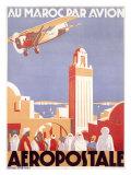 Marocco via Aeropostale Airline Giclée-tryk