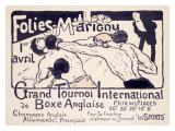 Folies-Marigny, Tournoi de Boxe Impressão giclée por Charles Genty