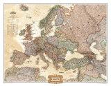 Mapa político da Europa, estilo executivo Fotografia