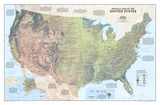 United States Physical Map Julisteet