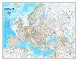 Politisk kort over Europa, på engelsk Plakater