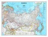 Karte von Russland Kunstdruck