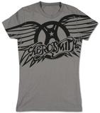 Frauen: Aerosmith– Geflügeltes Logo T-Shirts