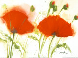 Poppies in the Wind II Poster by  Marthe