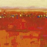 Red Landscape Posters by Rose Richter-armgart