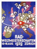 Rad-Weltmeisterschaften Bicycle Race Stampa giclée
