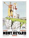 Mont Revard, Tennis and Golf Impressão giclée por Paul Ordner
