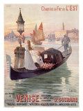 Venice, Italy, Gondola Giclee Print by Hugo D'Alesi