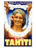 Tahiti, 1935 Giclée-tryk