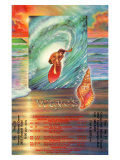 Surfing Waves Giclee Print