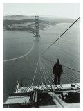 San Francisco, Golden Gate Bridge Construction Giclée-Druck