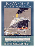RMSP to South America Giclee Print by Kenneth Shoesmith