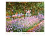 The Artist's Garden at Giverny, ca. 1900 Plakat af Claude Monet