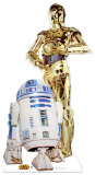 R2-D2 & C-3P0 Cardboard Cutouts