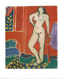Pink Nude, Red Interior, c.1947 Poster by Henri Matisse