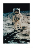 Astronaut Edwin Aldrin on the Moon, Apollo 11, July c.1969 Art