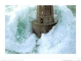 Fyrtårn i stormvejr, La Jument  Posters af Jean Guichard