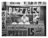 Hot Italian Pizza Poster di Nat Norman