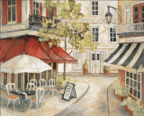 Daytime Cafe I Affiches par Charlene Winter Olson