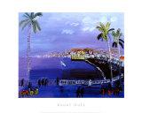 Baie des Anges, Nizza Kunstdruck von Raoul Dufy