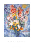 花瓶の花 高品質プリント : マルク・シャガール