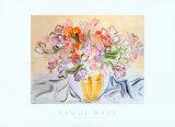 Vase de pois de senteur Affiches par Raoul Dufy