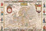 Antique Map, Nova Europa, 1652 Kunstdrucke von Nicholas Visscher