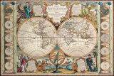 Antique Map, Mappe Monde, 1755 Posters par Jean-baptiste Nolin