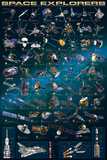 Space Explorers Affiche