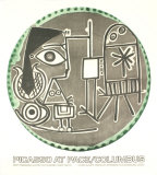 Plates with Text at Pace Columbus Poster af Pablo Picasso