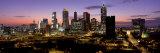 Skyline at Dusk, Cityscape, Skyline, City, Atlanta, Georgia, USA Fotografisk trykk av Panoramic Images,