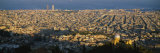 High Angle View of a Cityscape, Barcelona, Spain Fotografie-Druck