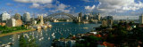 Harbor and City and Bridge, Sydney, Australia Photographic Print by  Panoramic Images