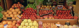 Close-up of Fruits in a Market, Rue De Levy, Paris, France Fotoprint
