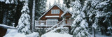 Snow Covered Chalet, Lake Tahoe, California, USA Photographic Print by  Panoramic Images